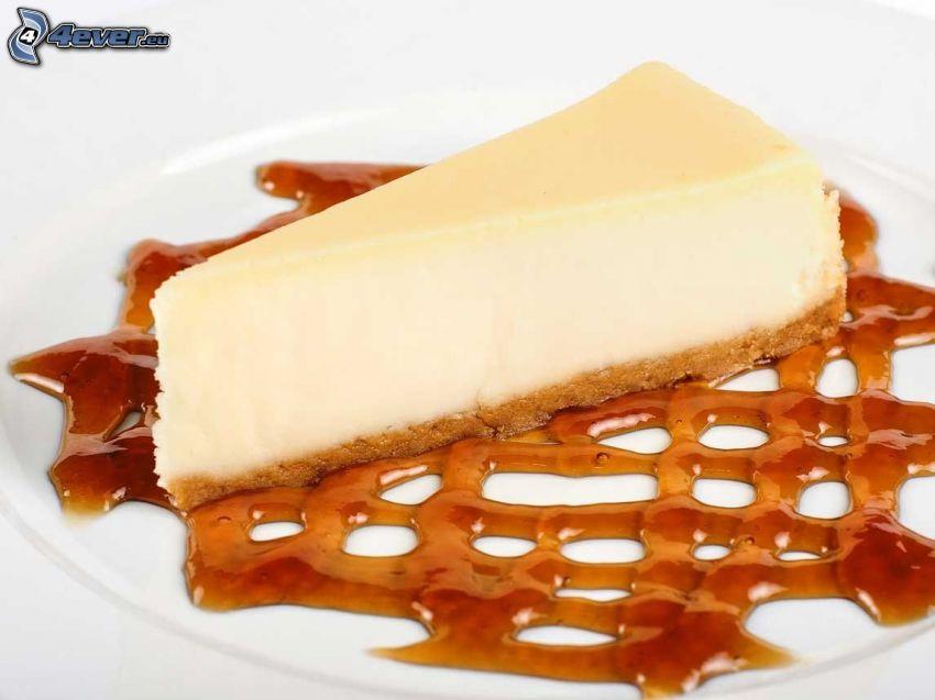 cheesecake, caramel
