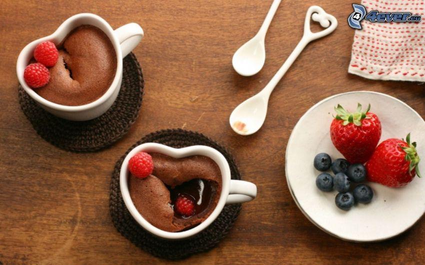 chocolate, strawberries