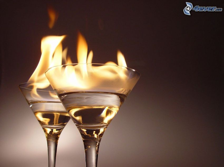cocktail, fire