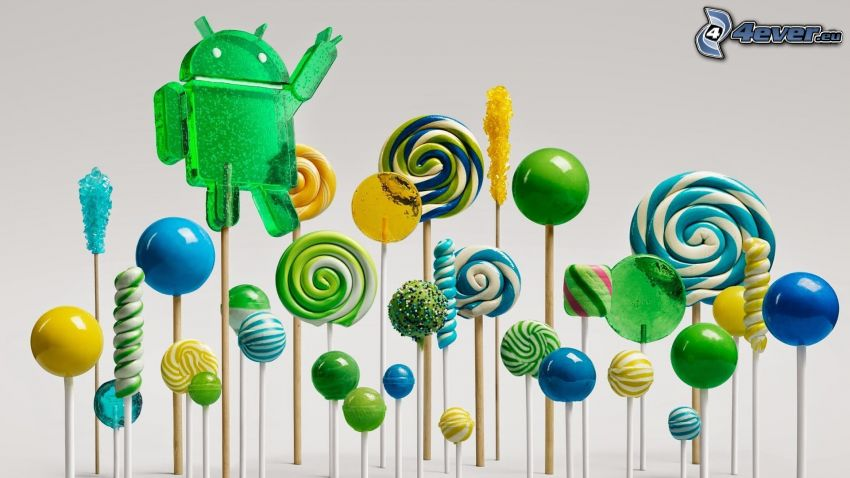 colored lollipops, Android