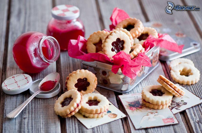 cookies, jam