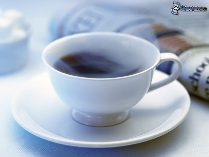cup of coffee, newspapers