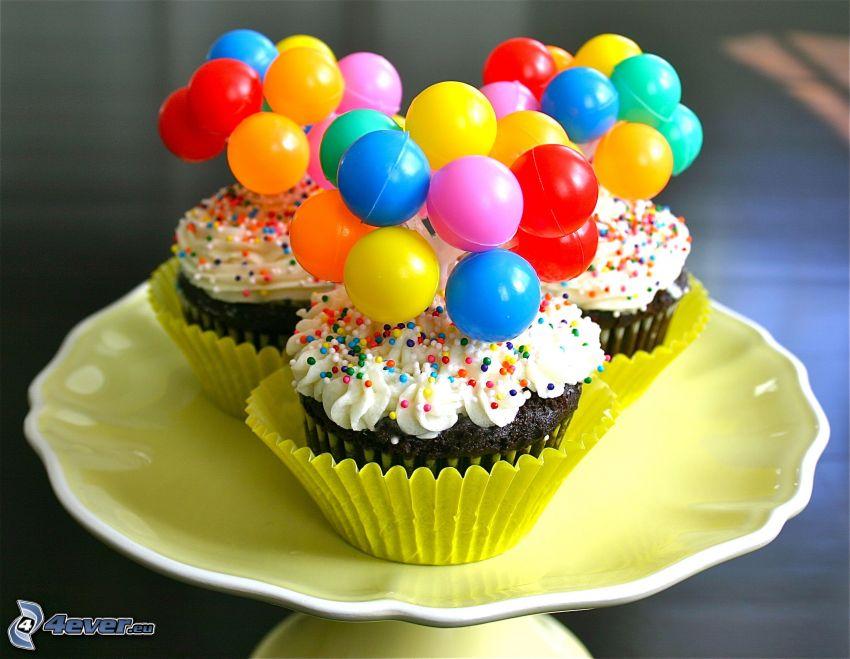 cupcakes, balls