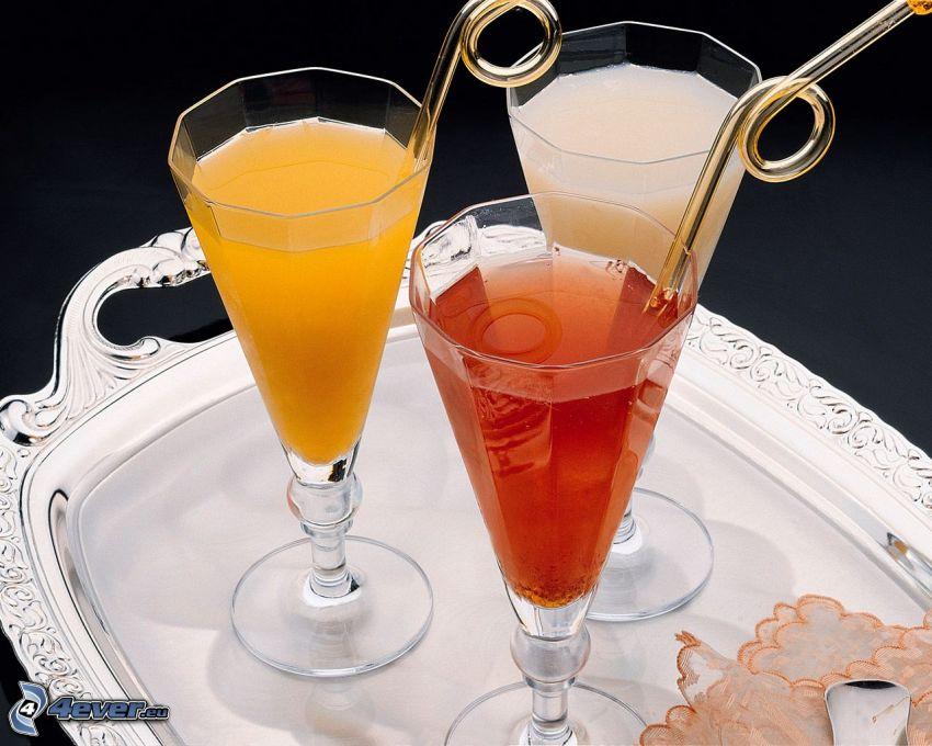 drinks, tray