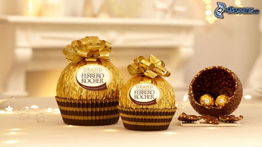 Ferrero Rocher, candies, chocolate
