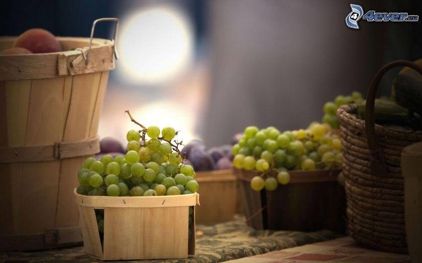 grapes, basket
