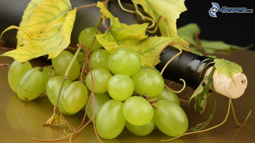 grapes, bottle