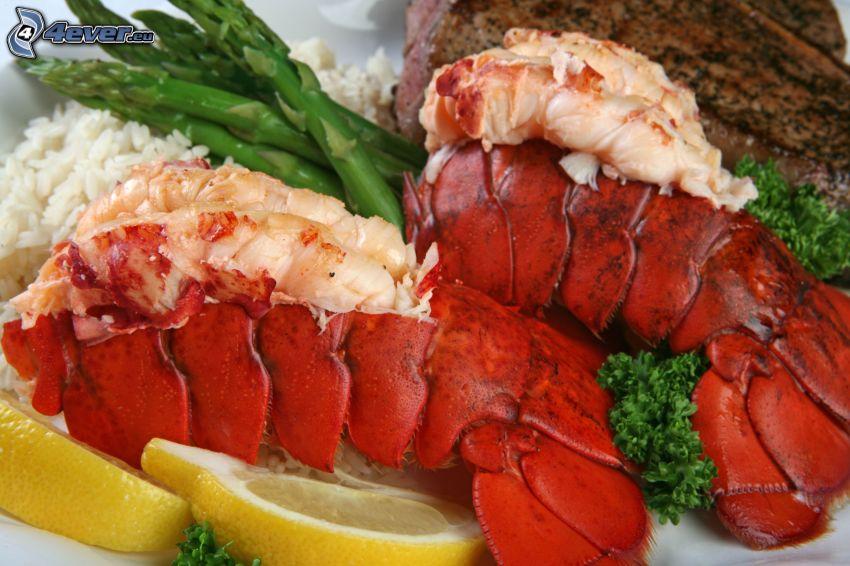 lobsters, lemons