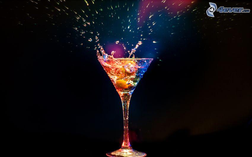 mixed drinks, drink, cocktail, splash