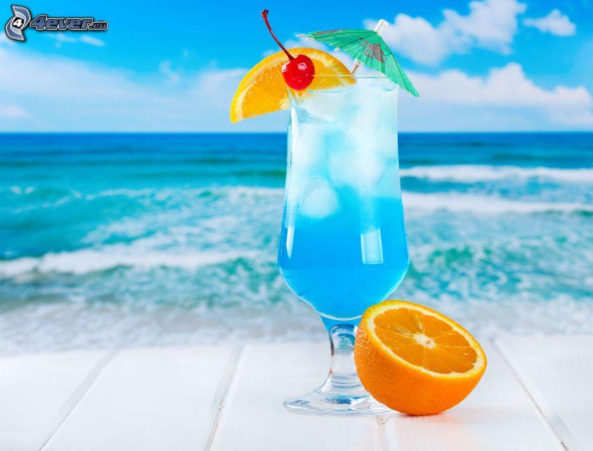 mixed drinks, open sea, orange