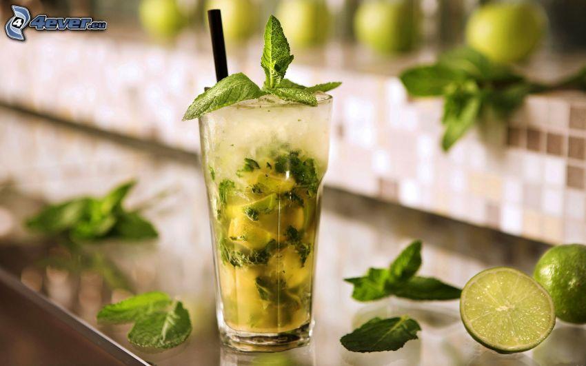 mojito, limes, mint