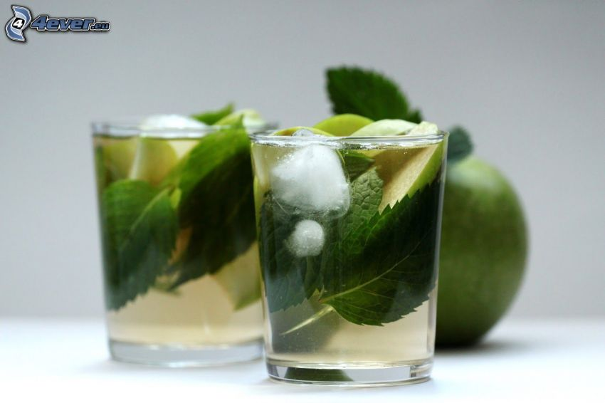 mojito, mint, ice, lime