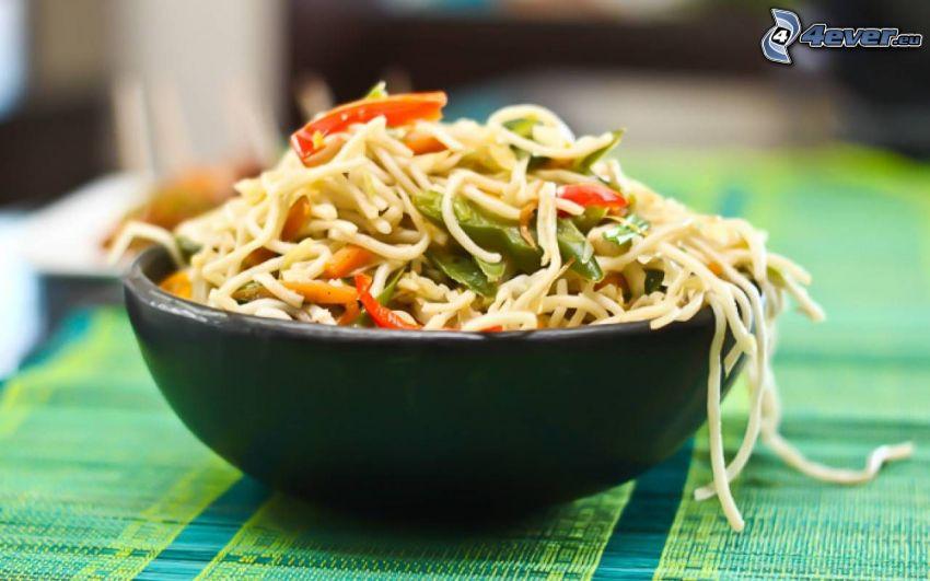noodles, bowl