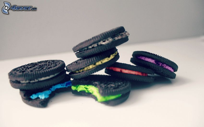 Oreo, biscuits, colors