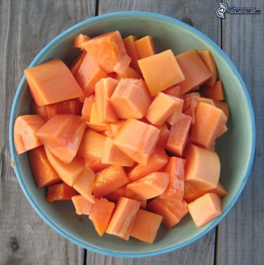 papaya, bowl