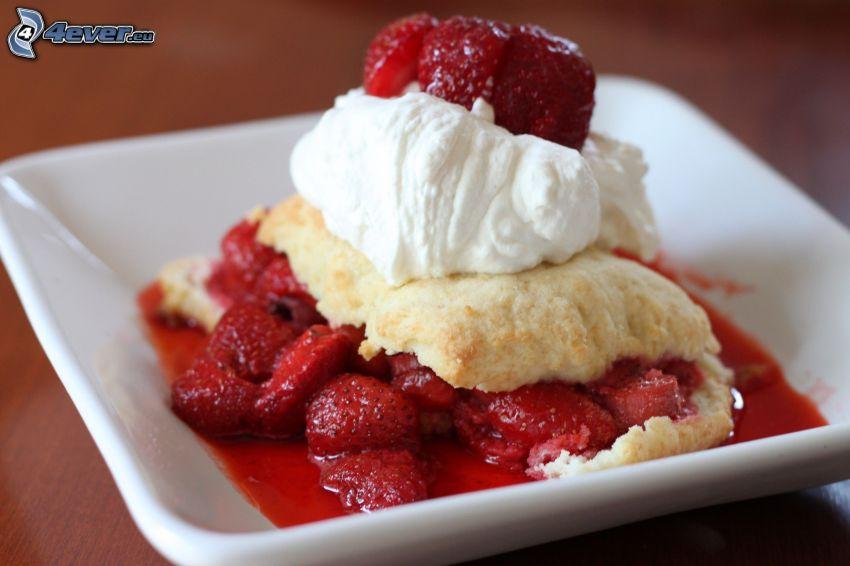 pie, strawberries