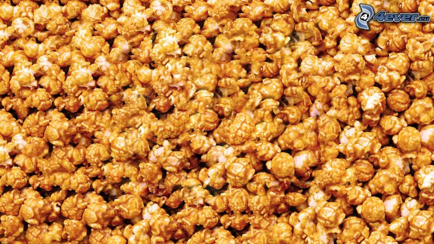 popcorn, caramel