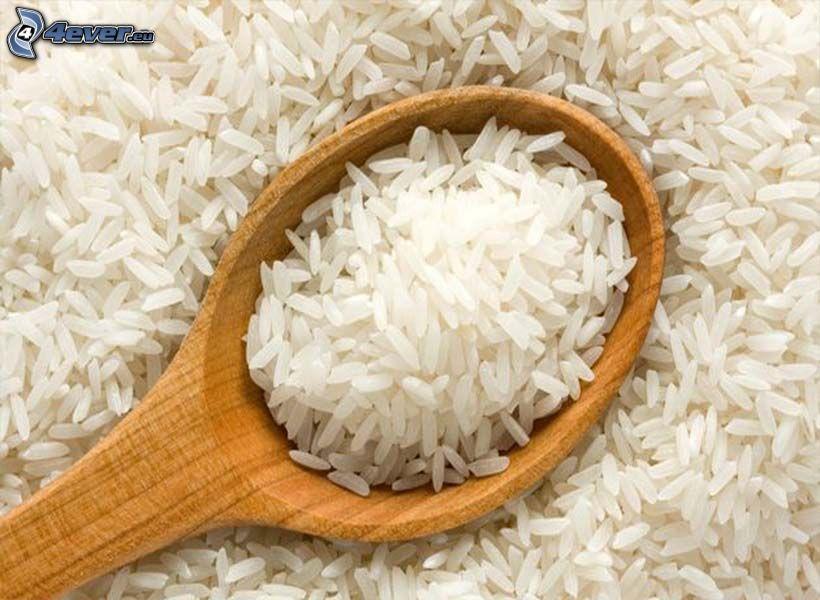 rice, spoon