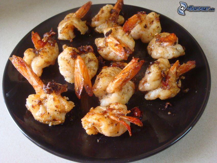 shrimp, shells