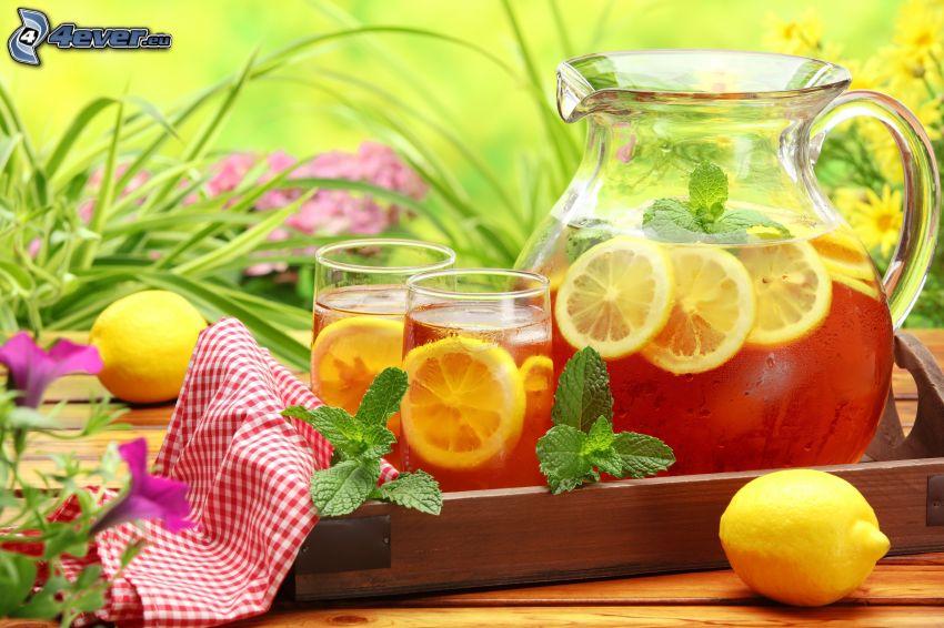 tea, lemon