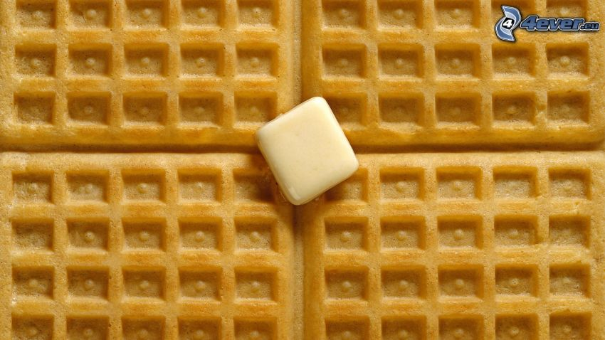 waffles, candy