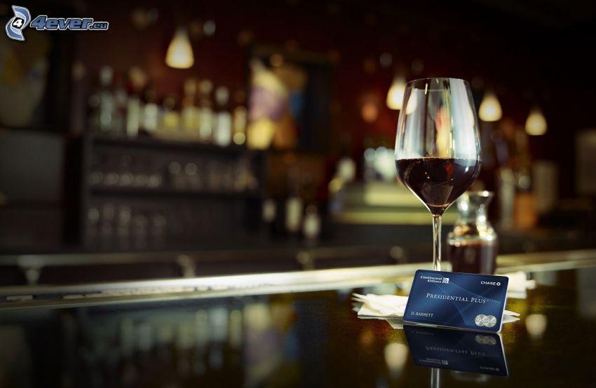 wine, credit card