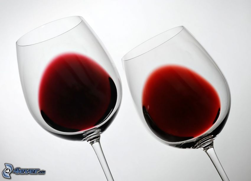 wine, glasses