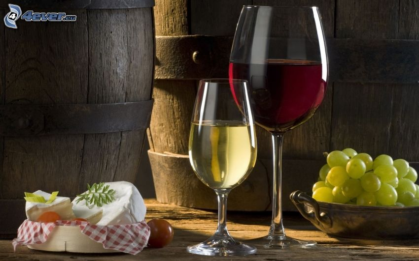 wine, grapes, cheese