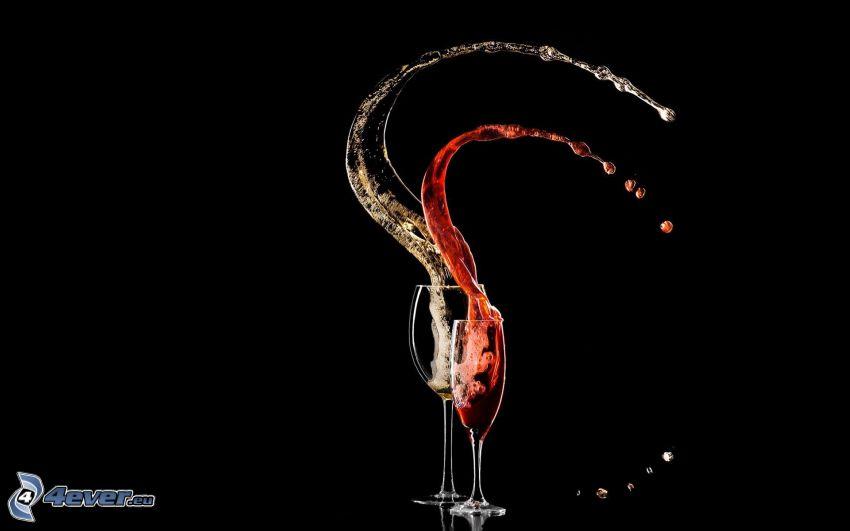 wine, splash