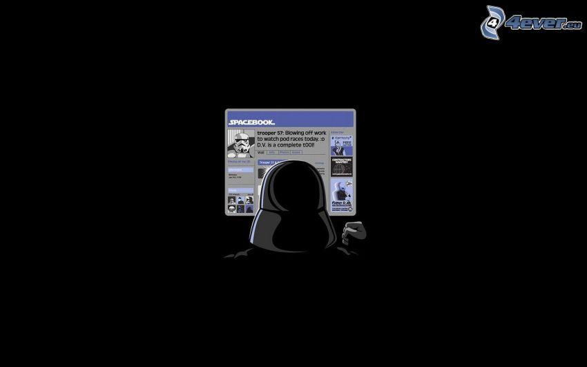 Spacebook, Star Wars, parody, Darth Vader