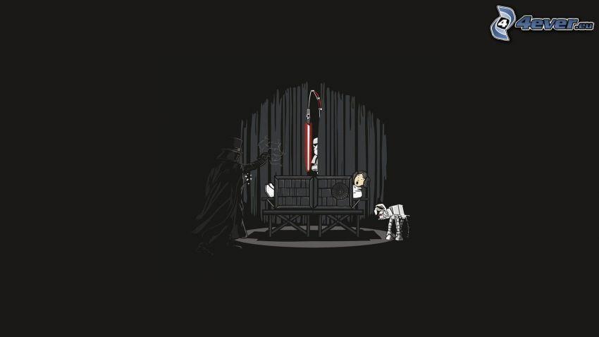 Star Wars, parody, Darth Vader, magician