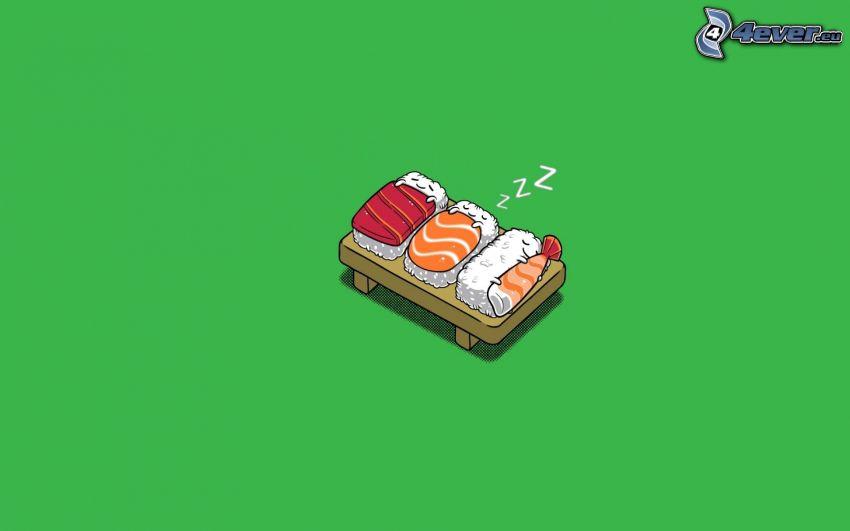 sushi, sleep