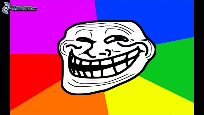 troll face, colors