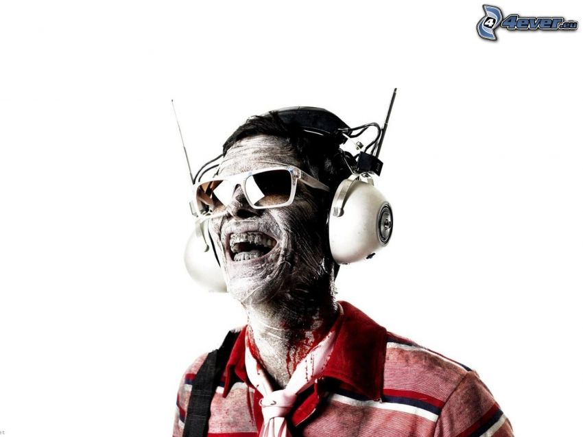 zombie, headphones