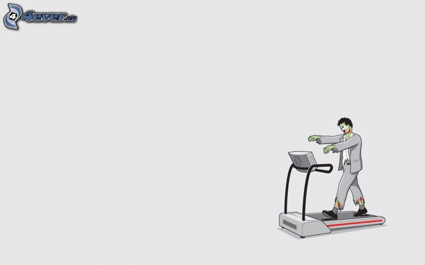 zombie, treadmill