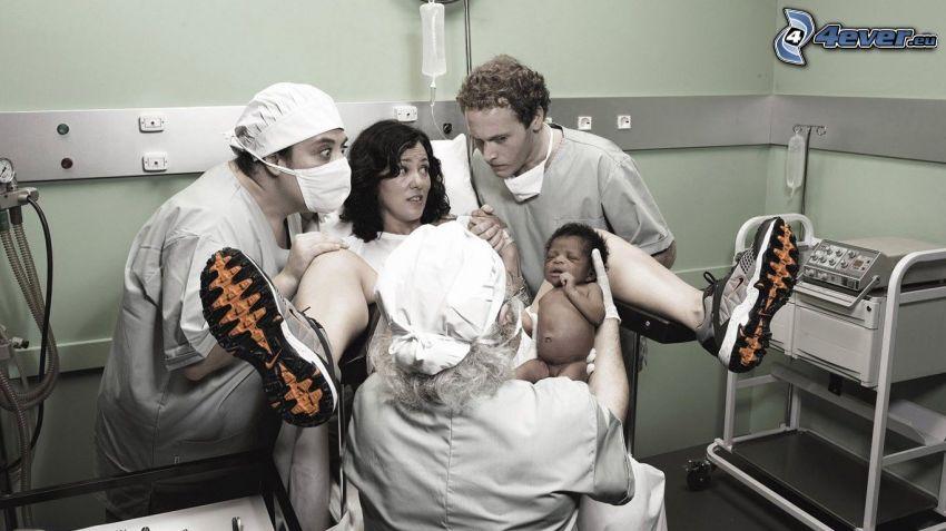 childbirth, small black boy