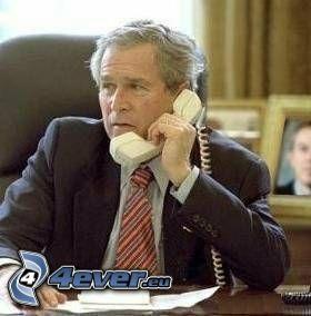 George Bush, phone