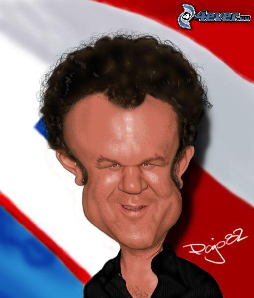 John C Reilly, caricature