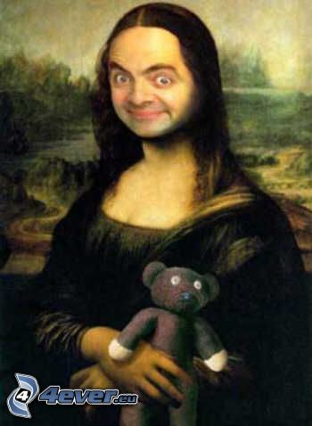 Mr. Bean, parody, Mona Lisa, teddy bear