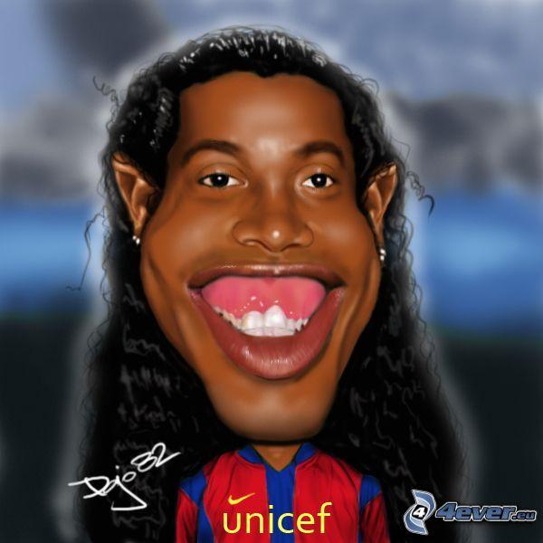 Ronaldinho, caricature