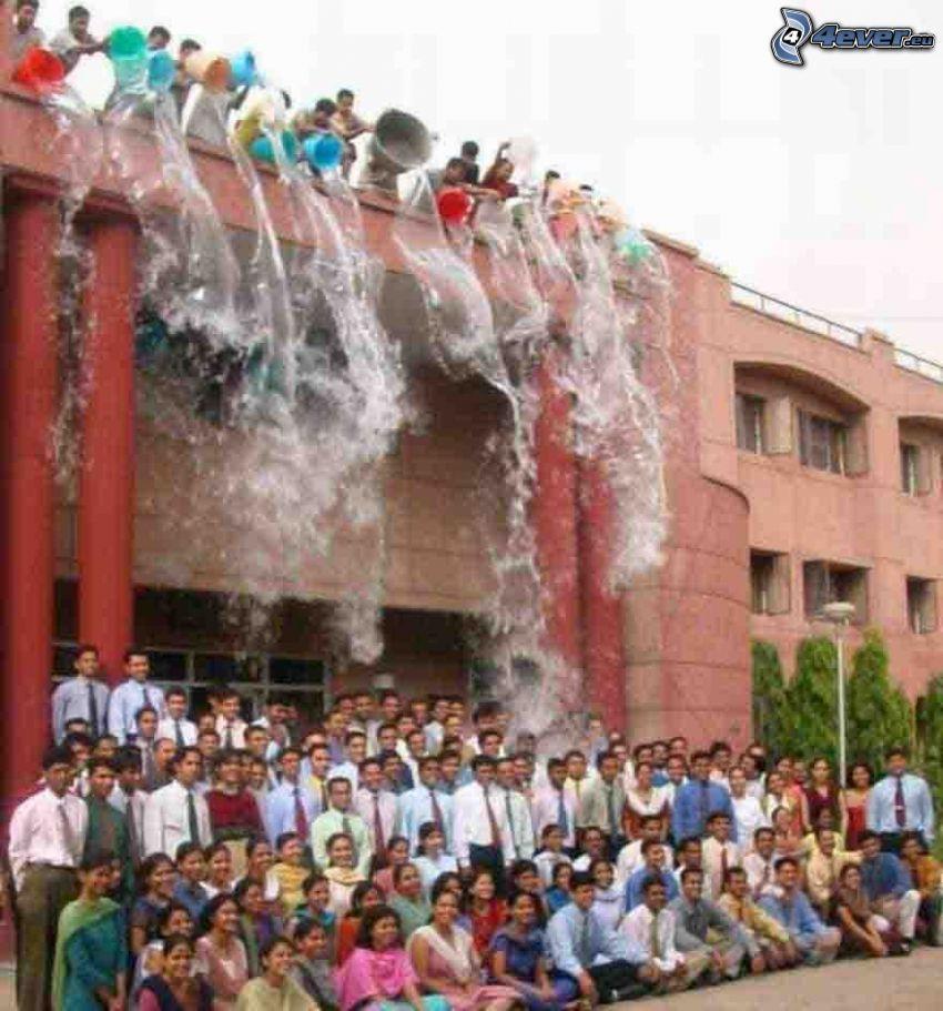 watering, water, bath, students, snapshot