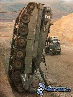 destroyed tank, Merkava