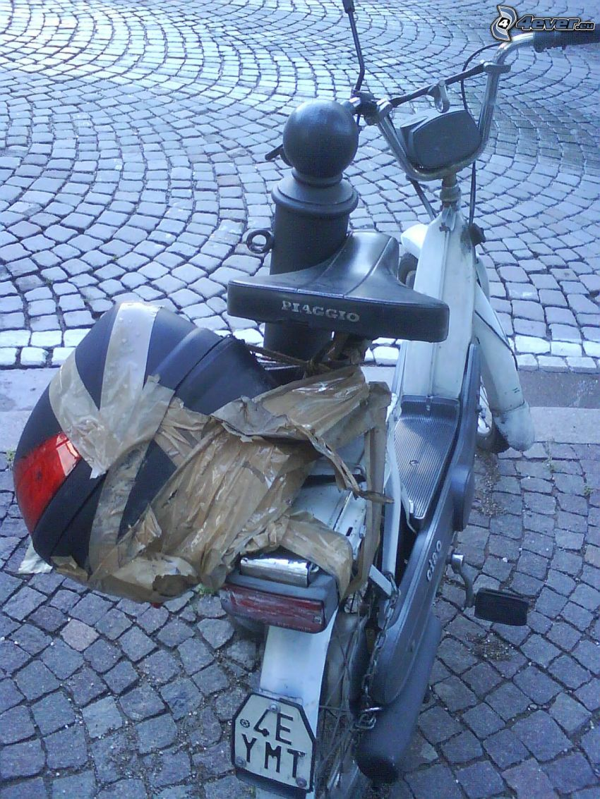 tuning, scooter, suitcase