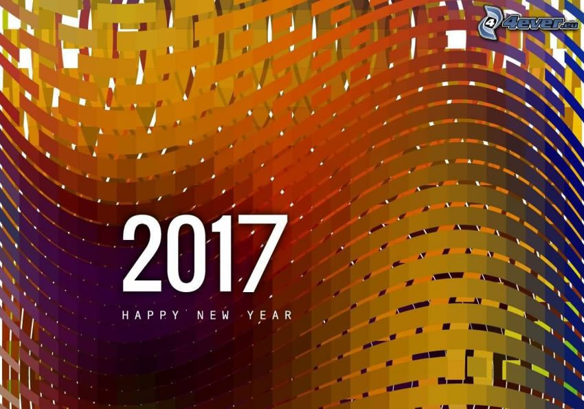 2017, happy new year, color wave