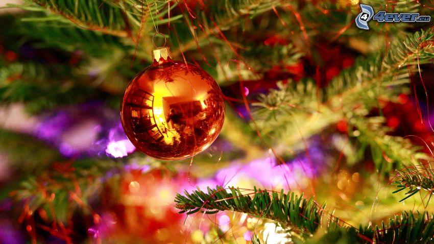 christmas ball, christmas tree