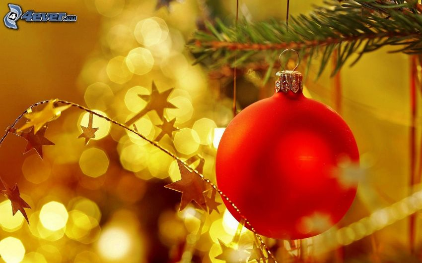 christmas ball, stars