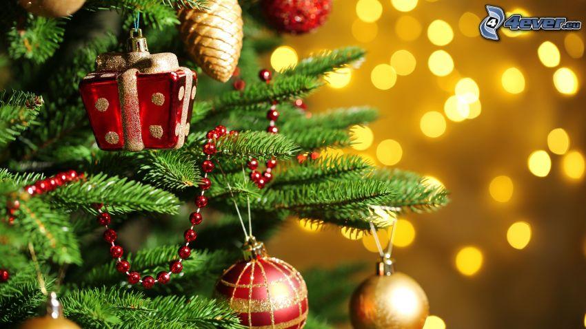christmas tree, christmas balls