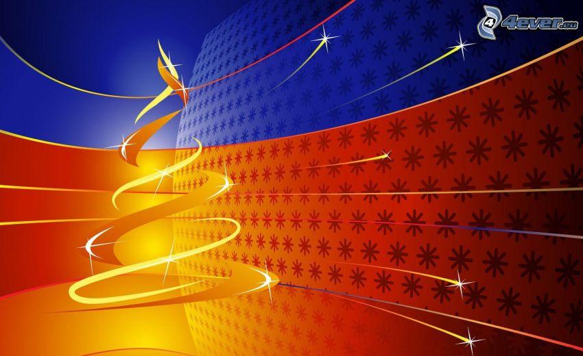 christmas tree, stars