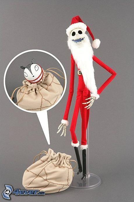 Jack Skellington, Santa Claus, emo, skeleton
