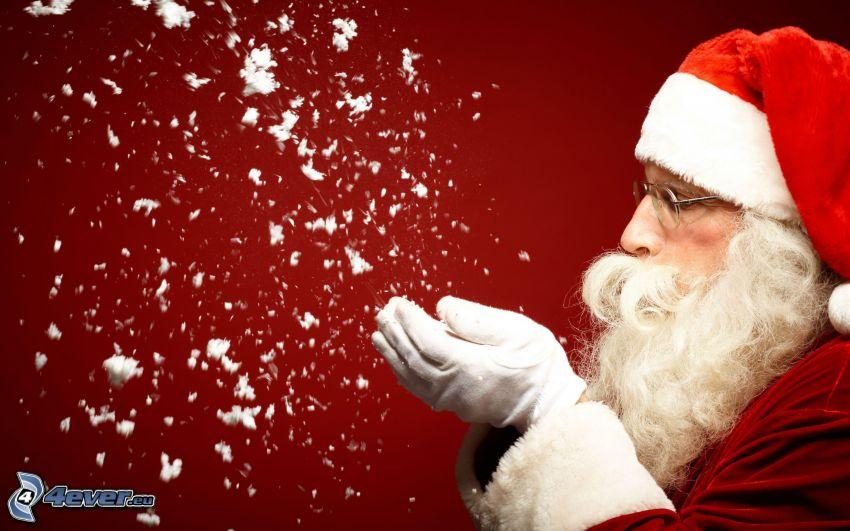Santa Claus, snow
